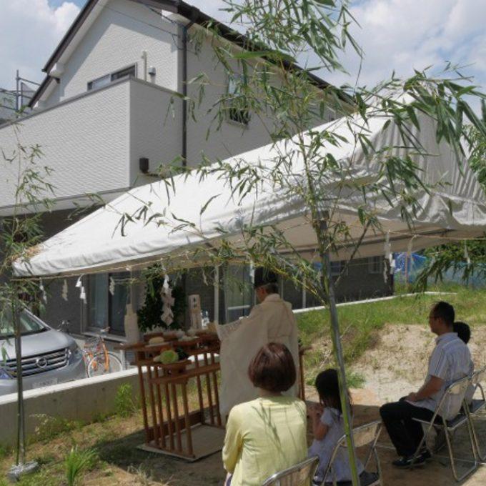 大阪(吹田市)での地鎮祭