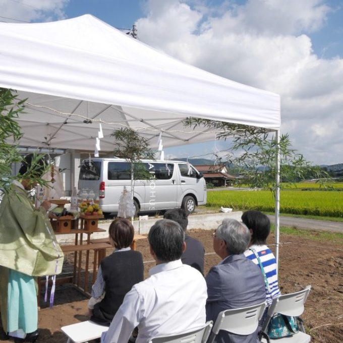 リーケなM邸 (平屋)の地鎮祭(東広島市)