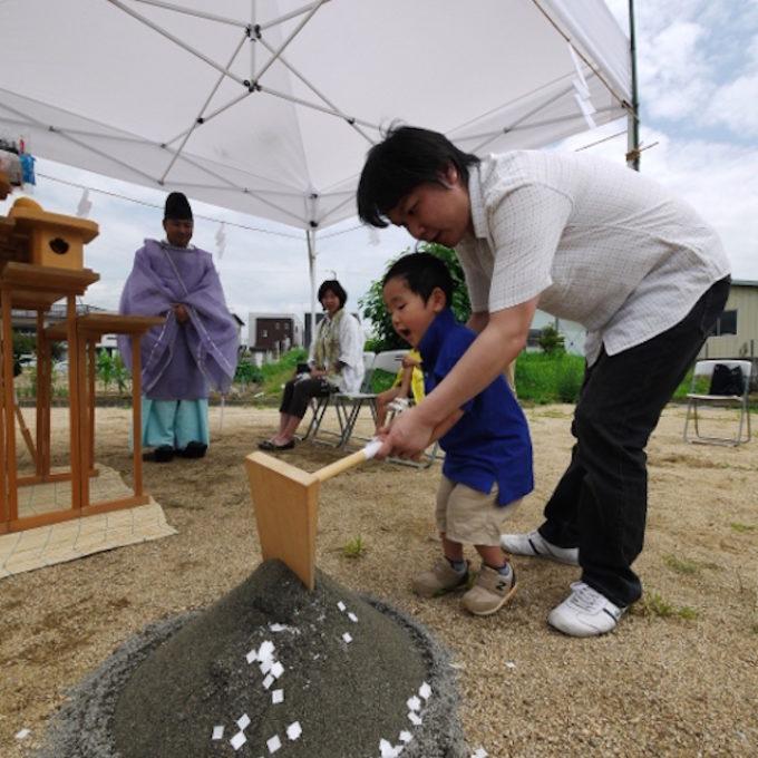 祝 倉敷での地鎮祭