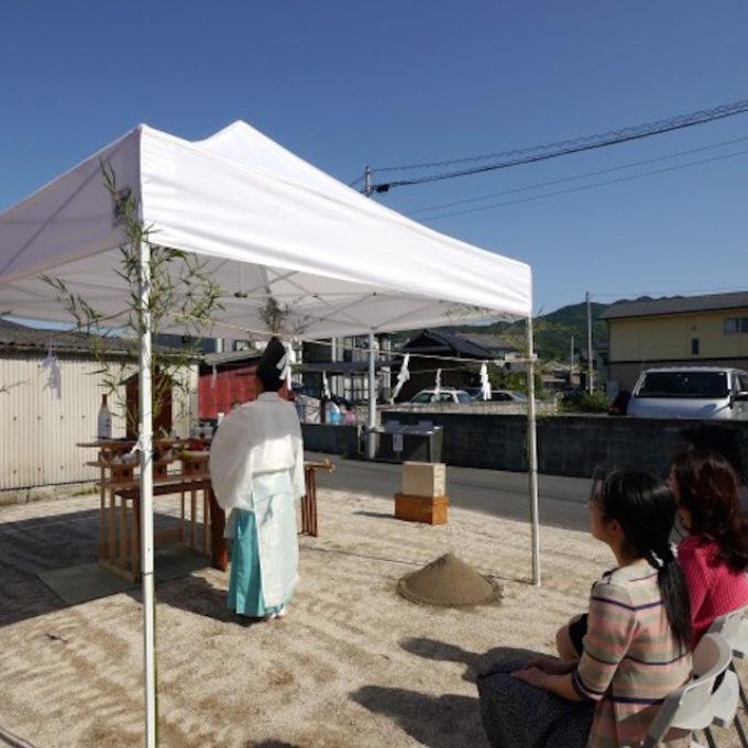 山口県柳井市の地鎮祭