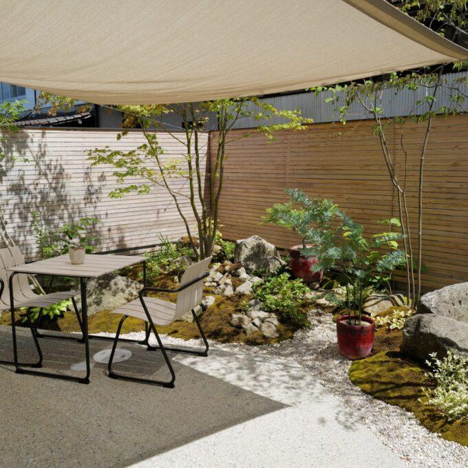 訪問レポート|絵画のように中庭を望む住まい